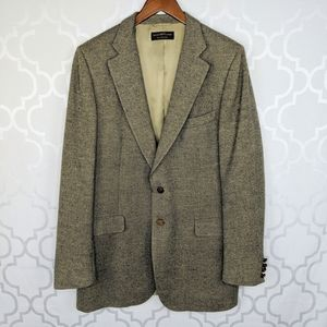 Vtg Lanvin Paris Tan Gray Camel Hair Blazer